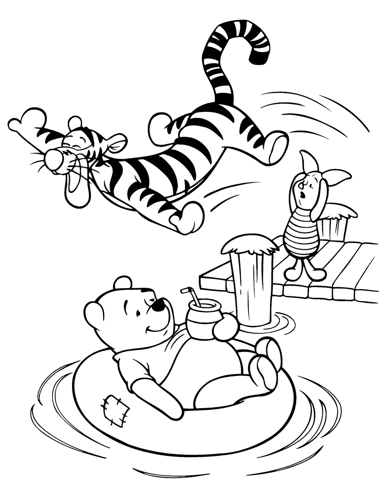 Disney colouring pages winnie the pooh - Winnie The Pooh Coloring Pages