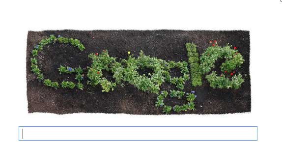 logo earth day google