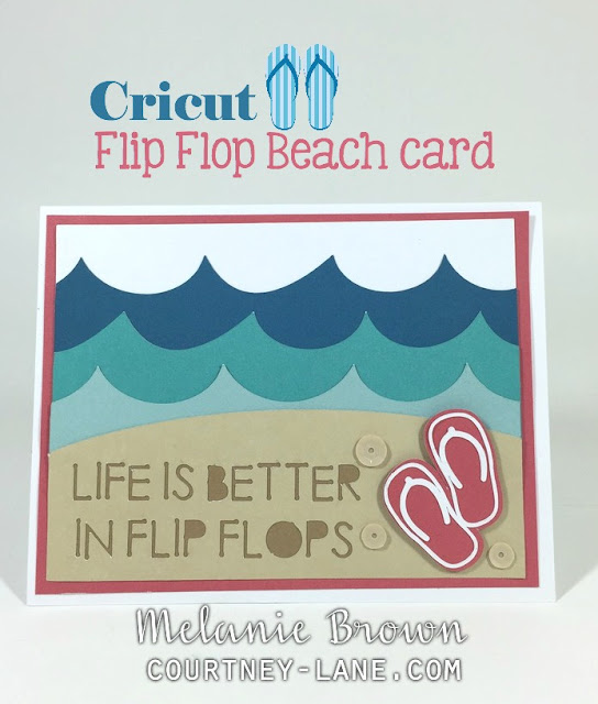 Cricut Flip Flop Beach card