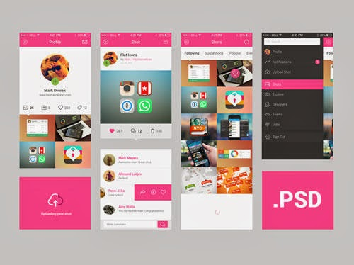 Web and Mobile UI PSD Files