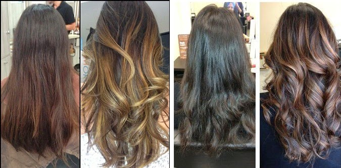 Balayage Hair Before After | before and after balayage and