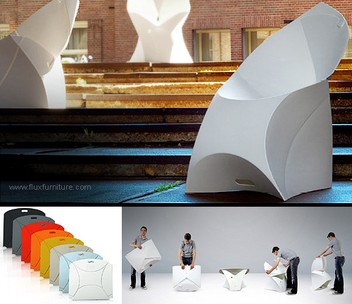Flux folding chair. Origami efficiency by Flux Furniture