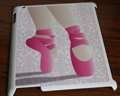 ipad cover with ballet toe shoe illustration