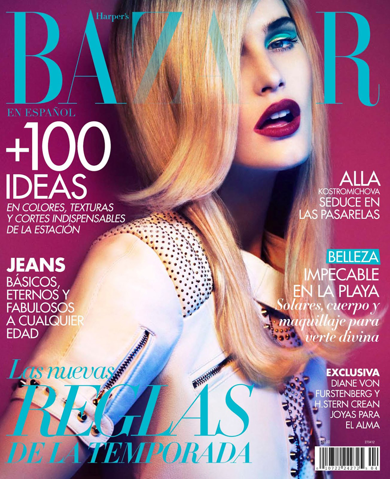 Harper's Bazaar Mexico April 2012 Alla Kostromichova by Jim Ferrater