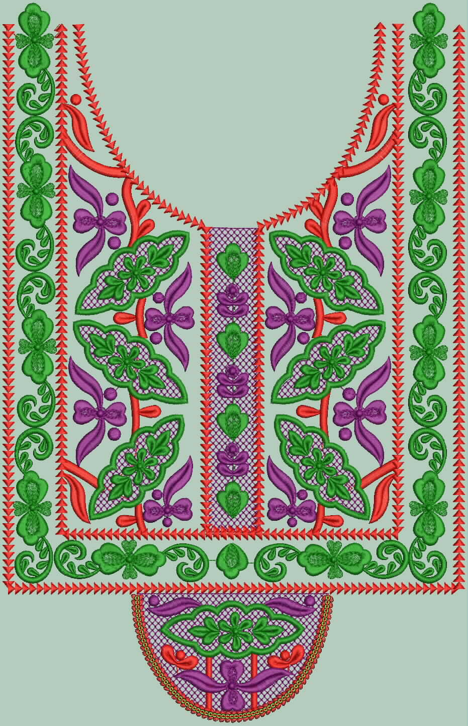 Stylish Compact Stitch Neck Designs By Mohammad Amir - Embdesigntube