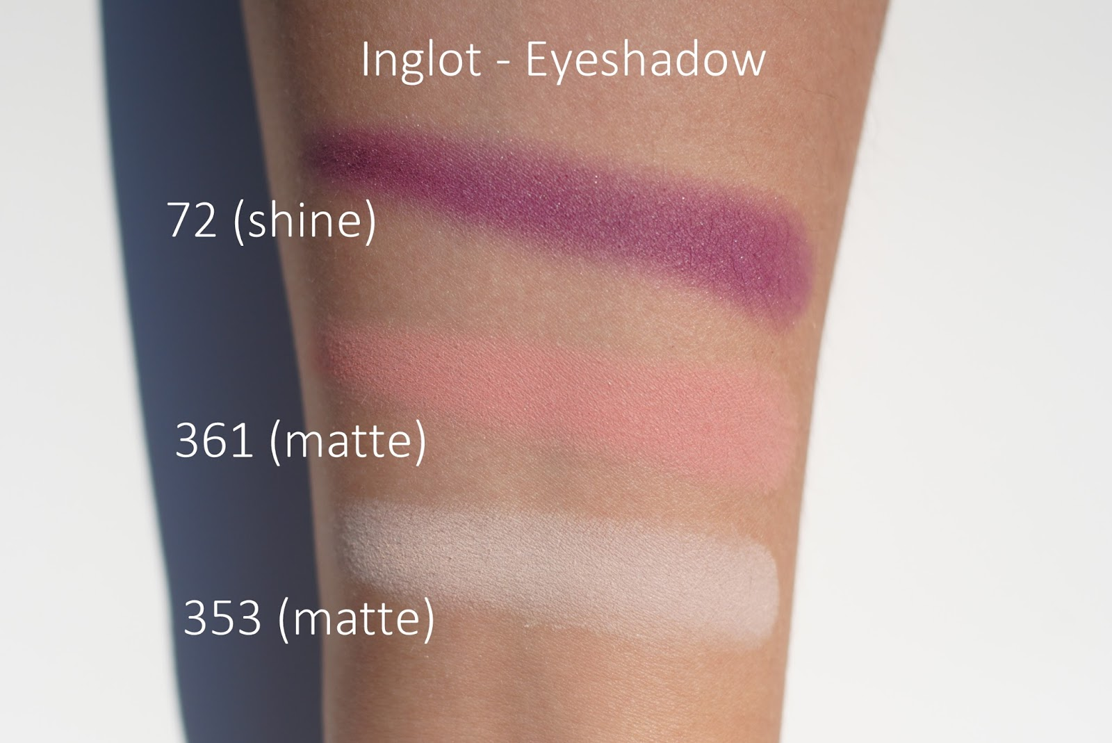 inglot palette swatches