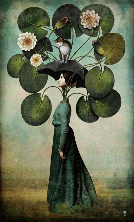 Christian Schloe ilustração digital surreal onírica sonhos Sonhos de primavera