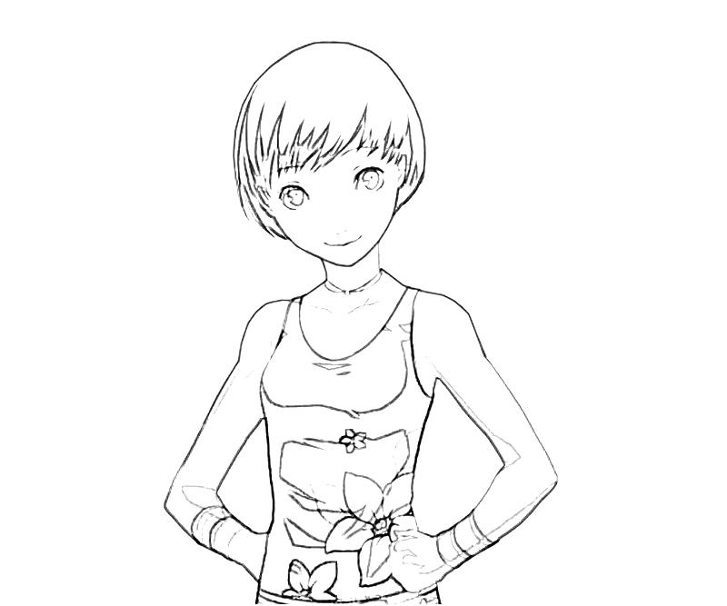 printable-chie-satonaka-casual-dress-coloring-pages