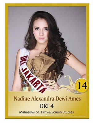 MISS INDONESIA UNIVERSE 2011 Nadine Alexandra Dewi Ames