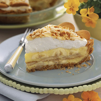 Banana Pudding Pie Recipe ~ Easy Dessert Recipes