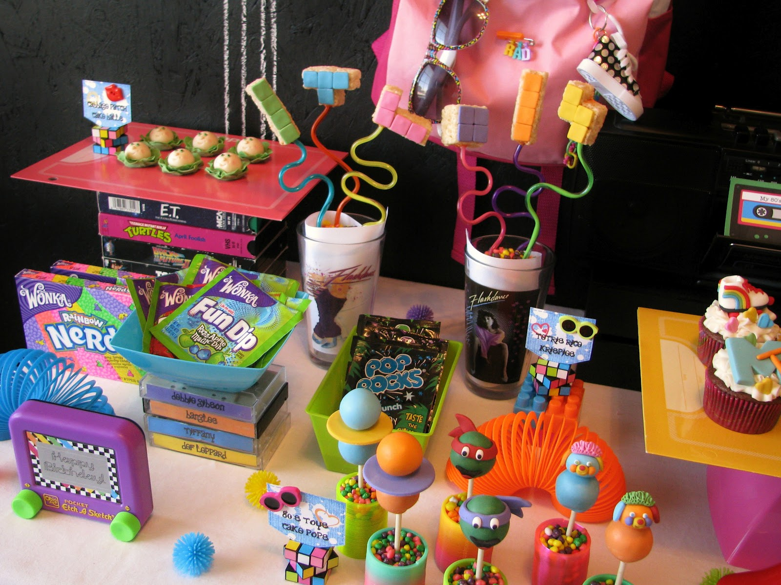 Growing up 80 s totally awesome party lynlees for 80 birthday decoration ideas