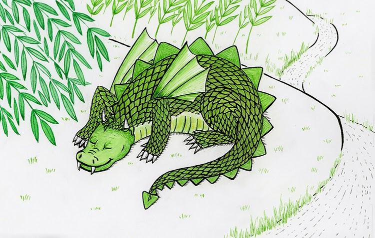 green dragon illustration friday yara dutra