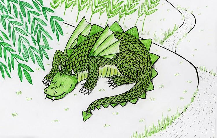 green dragon illustration friday yara dutra