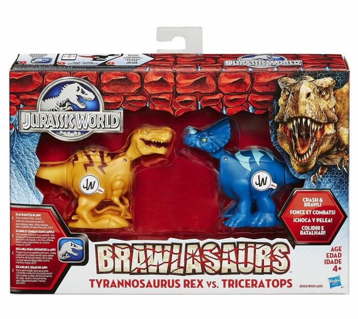 JUGUETES - JURASSIC WORLD : Brawlasaurs  Tyrannosaurus Rex vs. Triceratops Toys | Producto Oficial Película 2015 | Hasbro B1152 A partir de 4 años JUGUETES - JURASSIC WORLD : Brawlasaurs  Tyrannosaurus Rex vs. Triceratops Toys | Producto Oficial Película 2015 | Hasbro B1152 A partir de 4 años