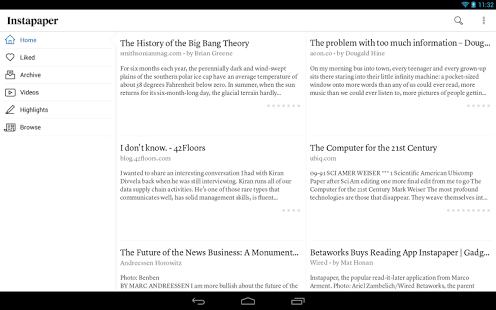 Instapaper Android App Apk