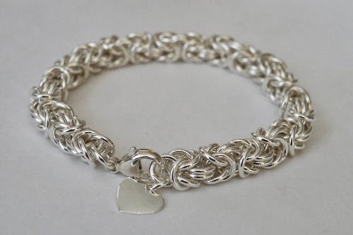 Chainmaille bracelet by Bev Feldman of Linkouture
