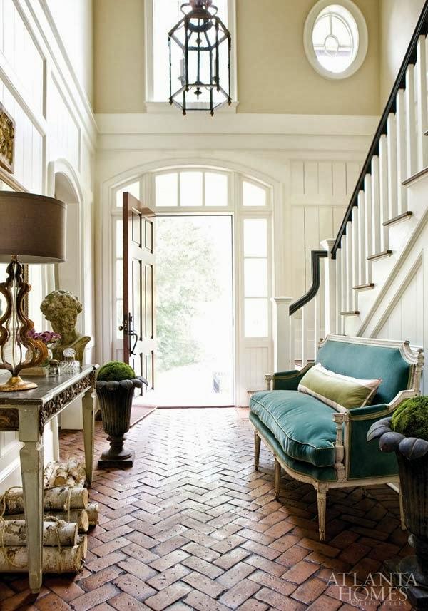 Brick Floors In House 45degreesdesigncom