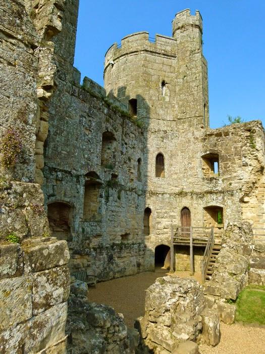 Bodiam Castle, interior, battlemented, ruins, East Sussex