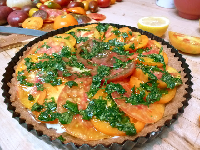 Diary of a Mad Hausfrau: Heirloom Tomato Tart with Whole ...