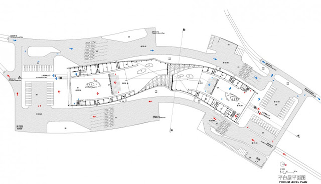 Detailed floor plan of first floor of new building