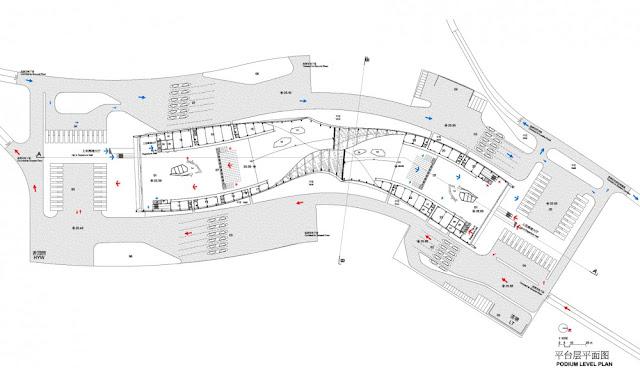 Detailed floor plan of first floor of new building