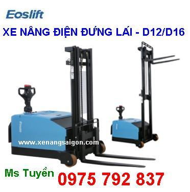 Xe nâng điện D12/D16 Eoslift - sử dụng cho các loại Pallet, giá cực tốt