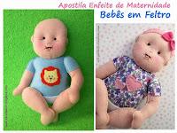 Apostila Enfeite de Maternidade Bebês em Feltro