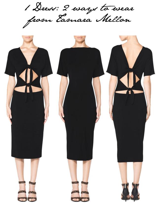 Tamara Mellon 2-in-1 dress