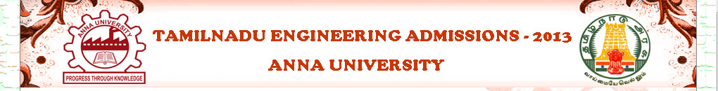 ENGINEERING ADMISSION 2013
