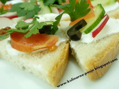 Kolorowe kanapeczki na przekąske