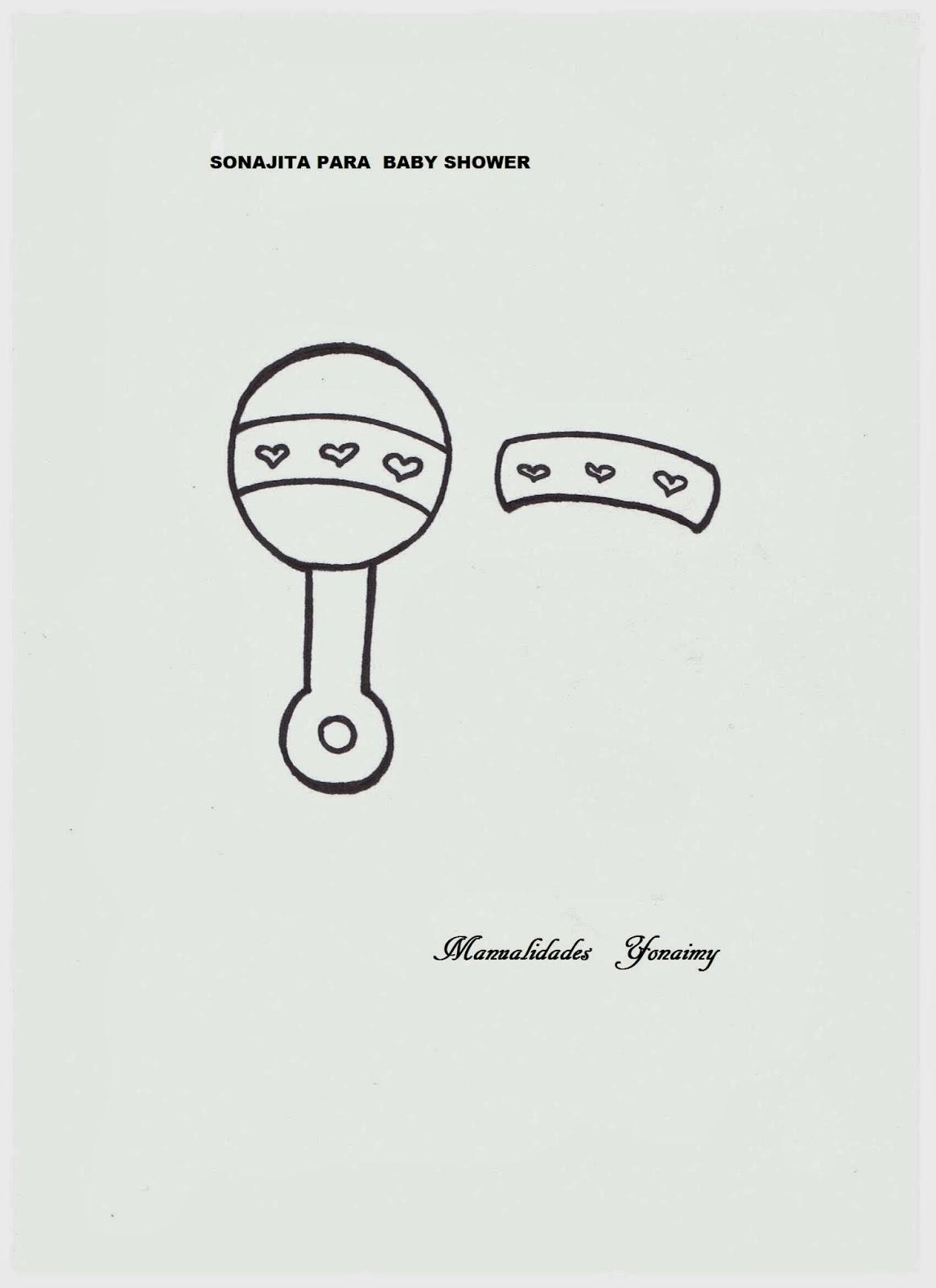 MANUALIDADES YONAIMY Moldes Para Baby Shower