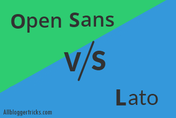 Open Sans vs Lato
