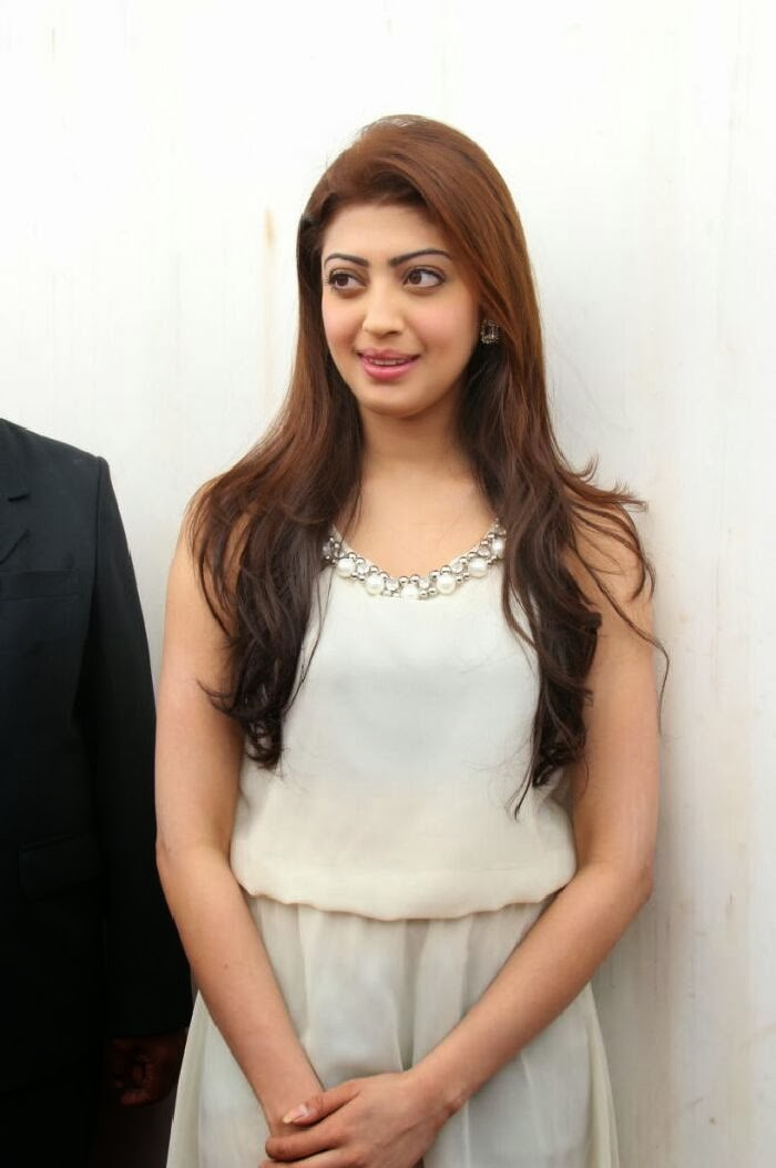 Pranitha latest photos in white dress at homeo trend super speciality hospital launch
