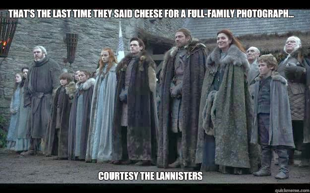 Starks Family Photo game of thrones memes