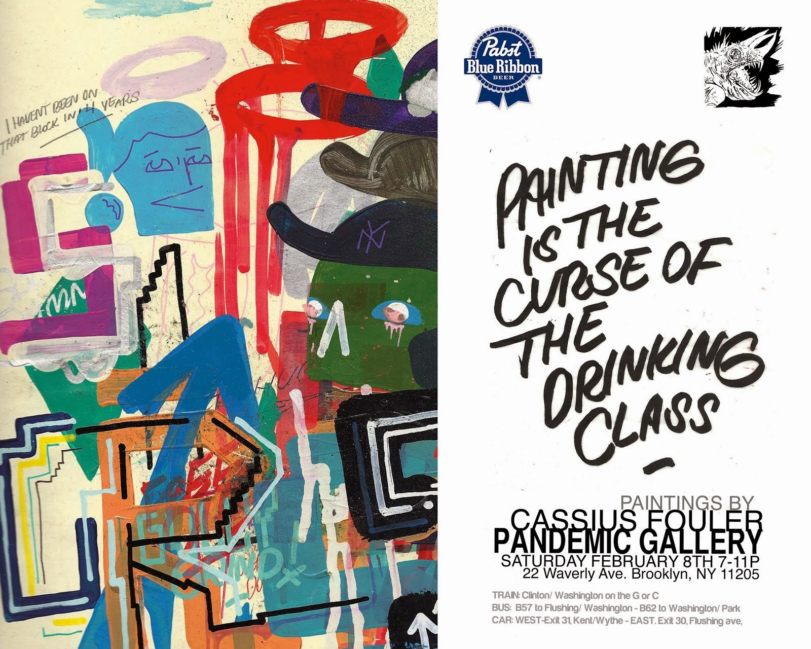 "Cassius Fouler ""Painting is the Curse of the drinking class"""