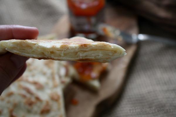 Rghaïf (Moroccan Flat Bread) | www.girlichef.com