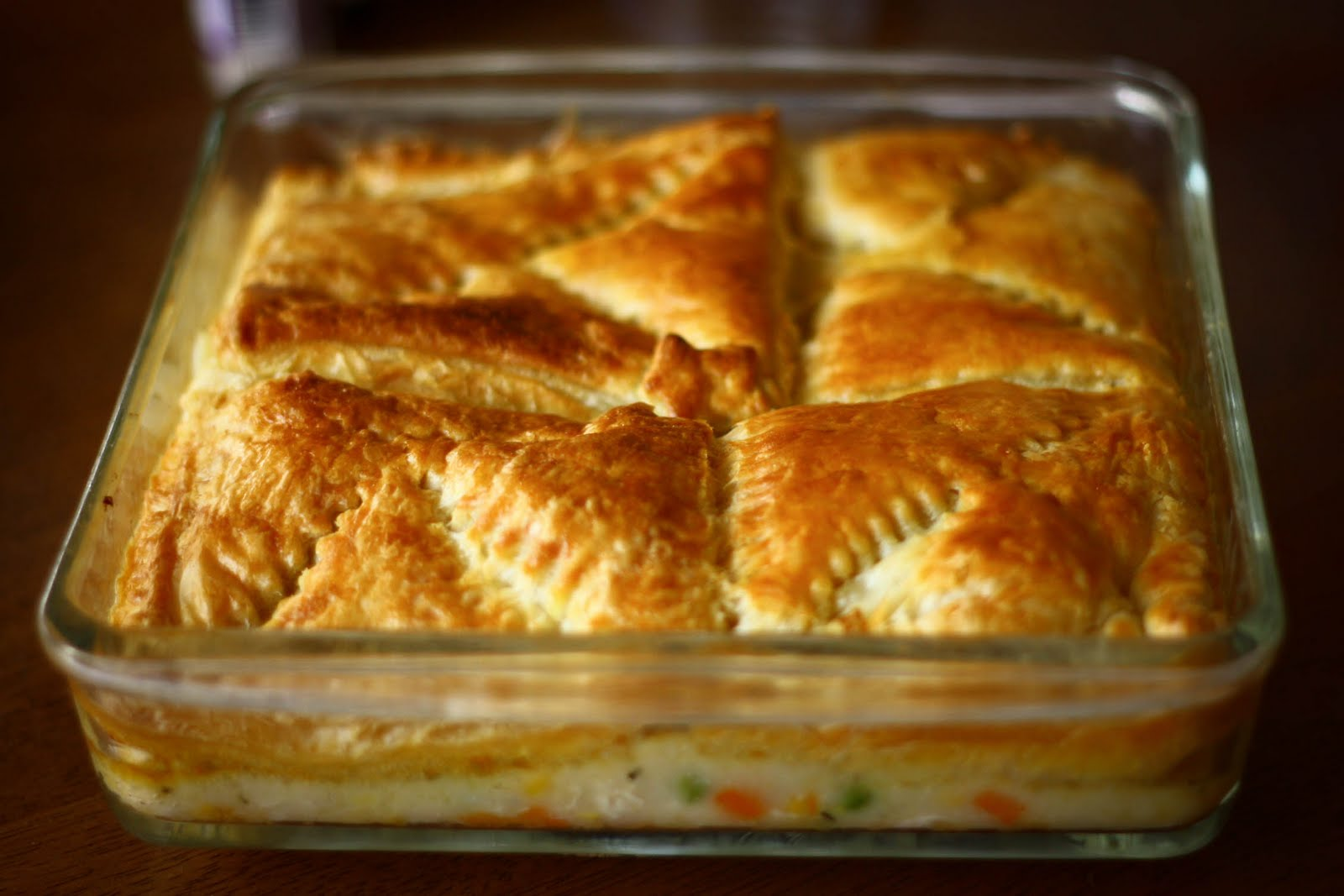 Reminiscent of the frozen chicken pot pies I used to eat when I was ...
