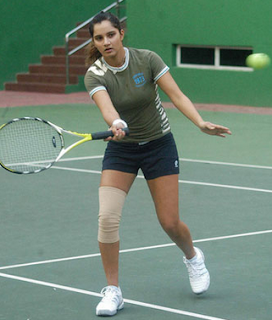 Injured Sania Mirza