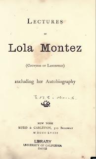 Autobiografía de Lola Montez