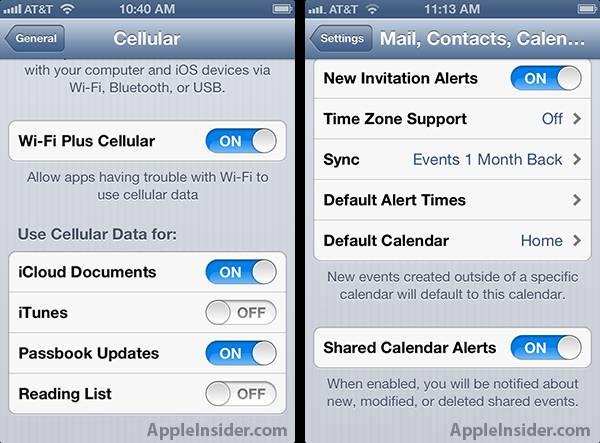 Conexões Wi-Fi e 3G do iOS 6