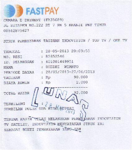 Cemara E Payment Contoh Strukbukti Pembayaran
