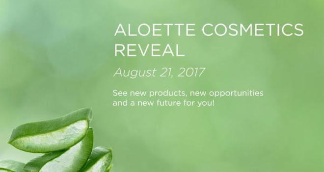 Aloette Cosmetics invites you to the Reveal Beauty Event, Monday, Aug 21, 2017,