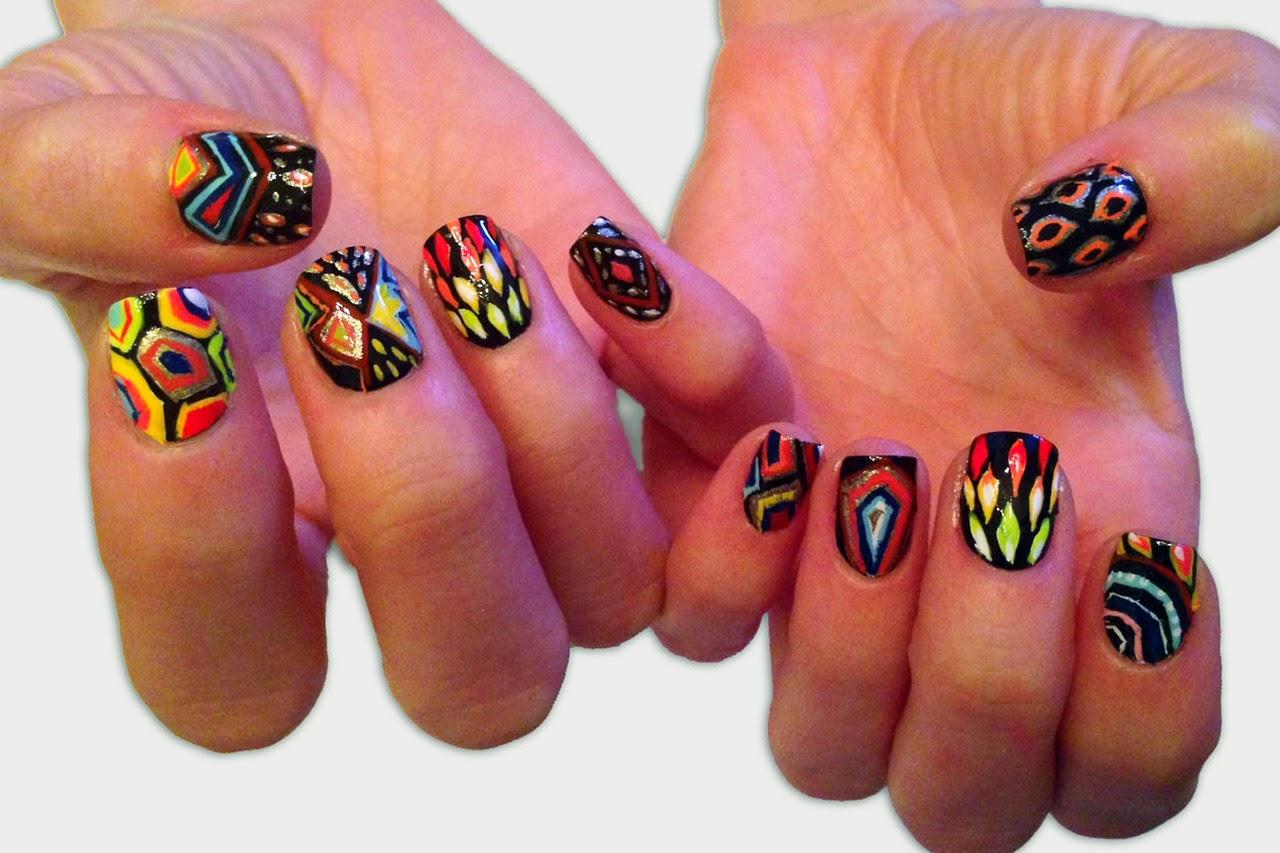 artist Fred Tomaselli, nail artist Jessica Washick 20.06.2013