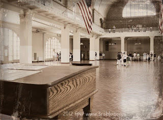Ellis Island reception hall, June 2012