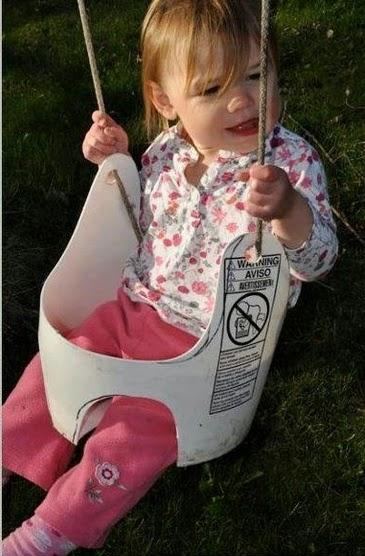 Curiosas ideas columpio para beb hecho con cubo pl stico - Hacer un columpio ...