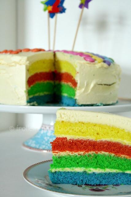 Regenbogentorte, Regenbogenkuchen, Rainbow cake, Regenbogen, Kuchen, Torte, Kinderkuchen, Kindertorte, Kindergeburtstag, Geburtstagstorte, Food, Food Blog, Frollein Pfau