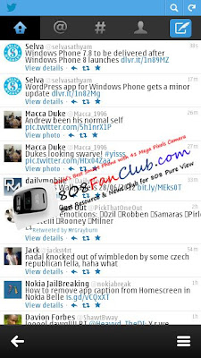 Twitter Mobile Touch Shortcut - Nokia Belle FP1 - Free App Download