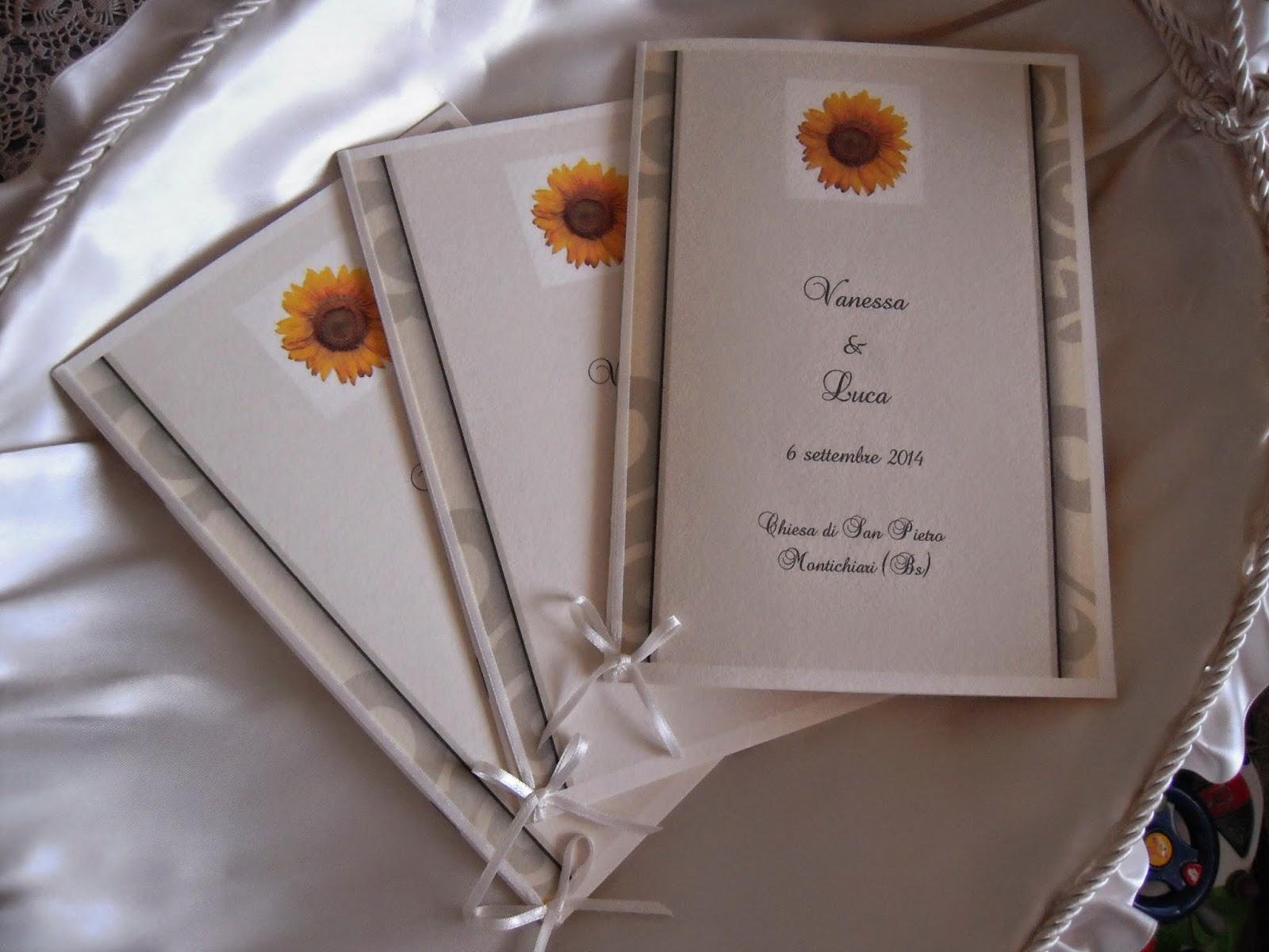 Libretto Matrimonio Girasoli : Eventidecor libretti messa degli sposi con girasoli