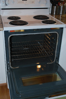 how to clean black stove top without scratching