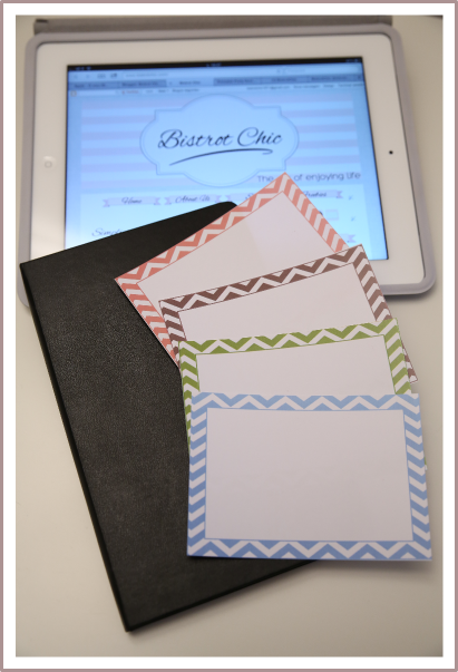 Chevron card freebie from BistrotChic